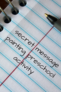 secret message painting preschool activity