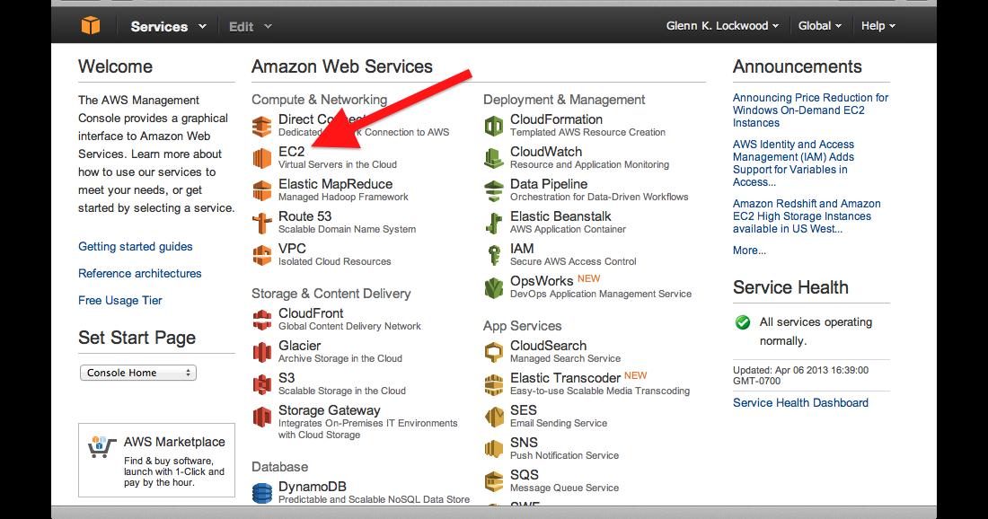 Glenn K  Lockwood: Quick MPI Cluster Setup on Amazon EC2