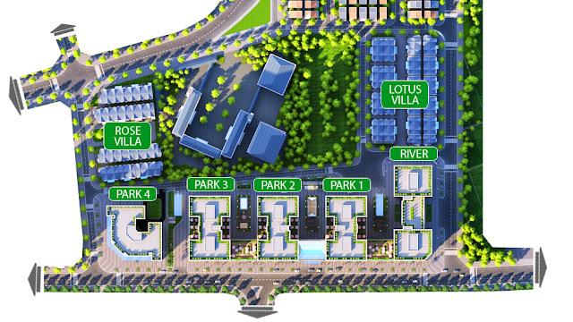 Mặt bằng phân khu biệt thự, liền kề chung cư EuroWindow River Park