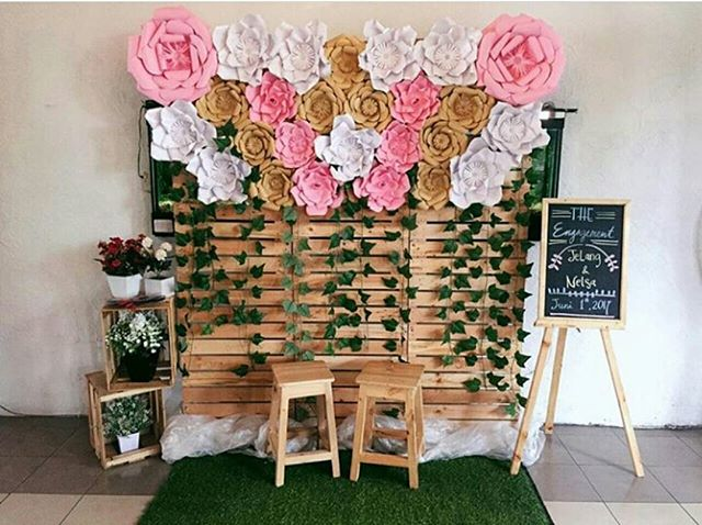 Paper Flower Dekorasi Background Photobooth