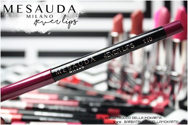 makeup swatch 4ver lips , matite labbra, automatica, mesauda