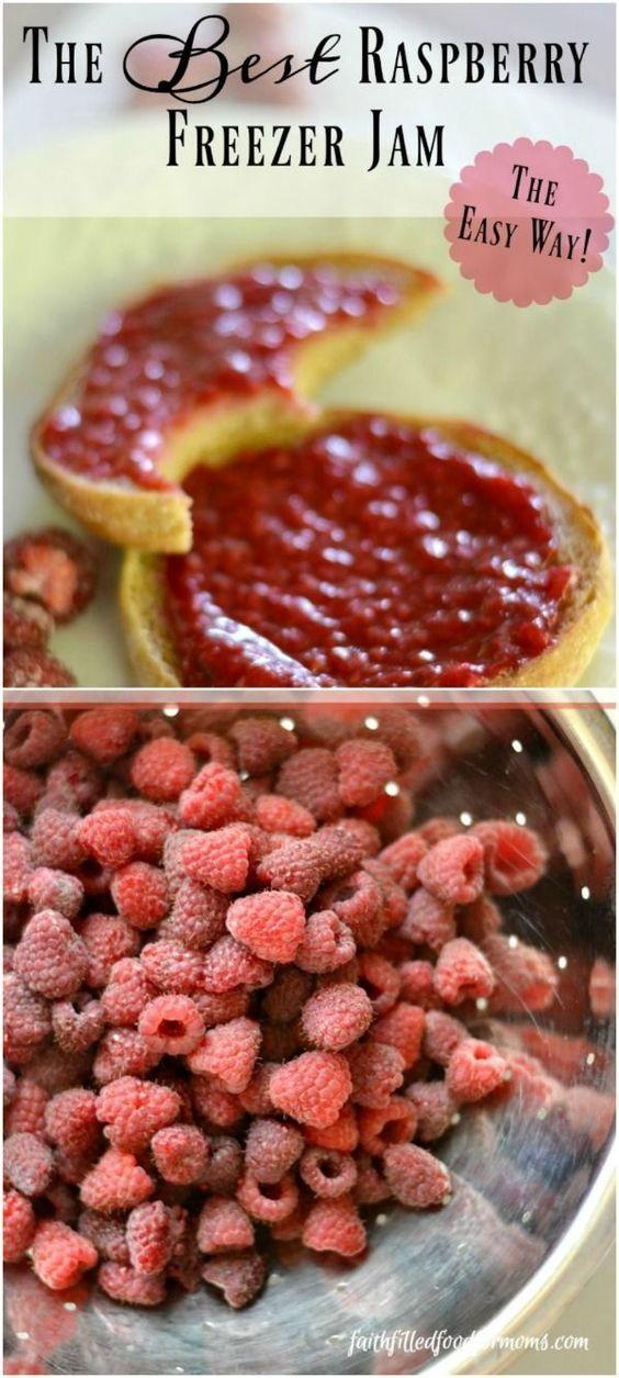 The Best And Easiest Raspberry Freezer Jam
