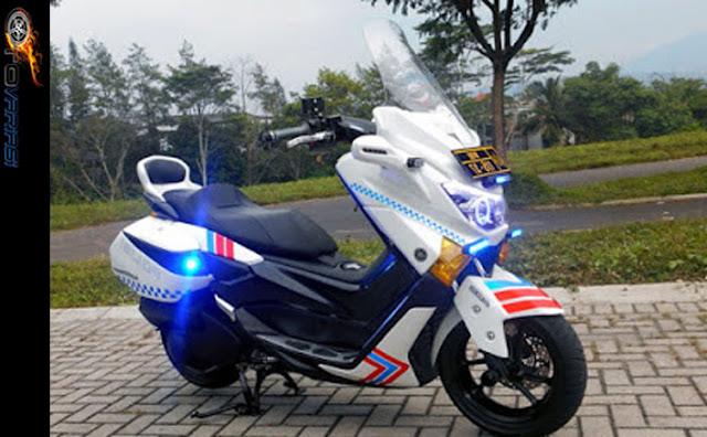 modifikasi nmax dengan gaya motor polisi