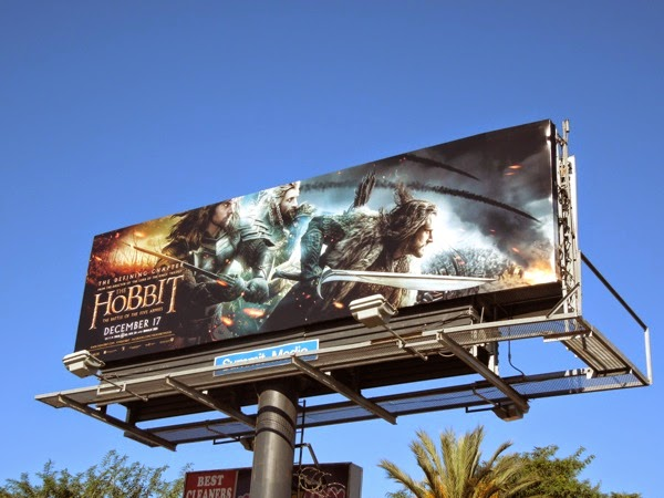Hobbit Battle of the Five Armies Dwarves billboard