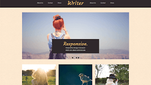 Writer Free Blogger Template