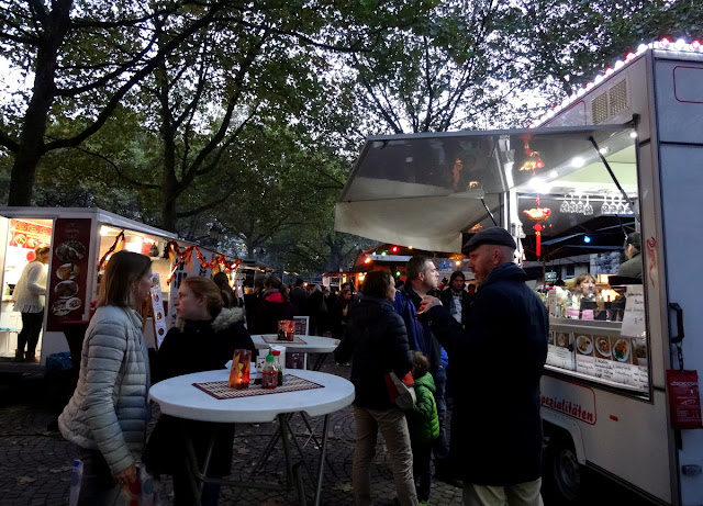 Peruvian food truck - Meet & Eat street food market at the Rudolfplatz in Cologne, Germany