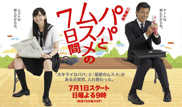 Download Dorama Jepang Papa to Musume no Nanokakan Batch Subtitle Indonesia