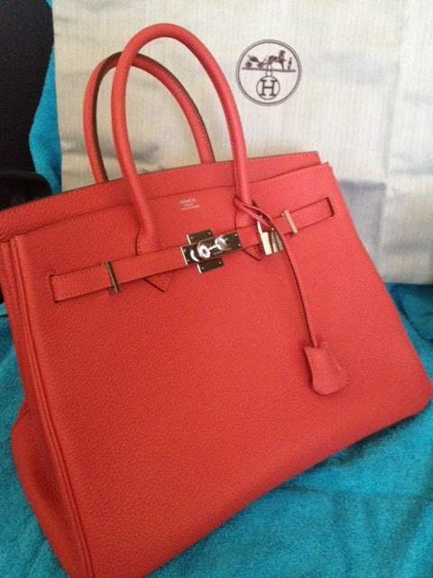 acdd2bf6ad Purse Princess  Replica Hermes Red Birkin 35cm Clemence from Victoria