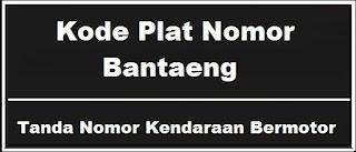 Kode Plat Nomor Kendaraan Bantaeng