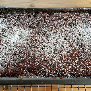 Brownie Tray Icing Sugar