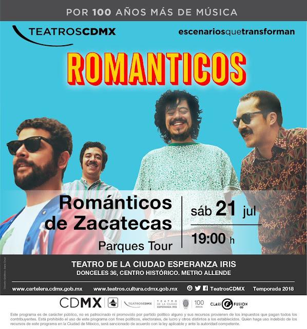 Resultado de imagen para los romanticos de zacatecas teatro de la ciudad