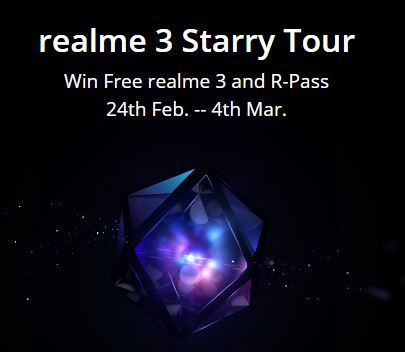 (Loot) Realme Particles – Win Free Realme 3, Realme Buds, Tech BackPack