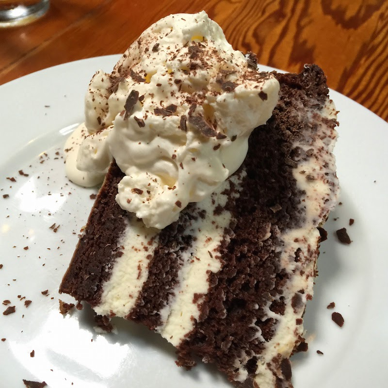 Il Vecchio's chocolate torte with mascarpone