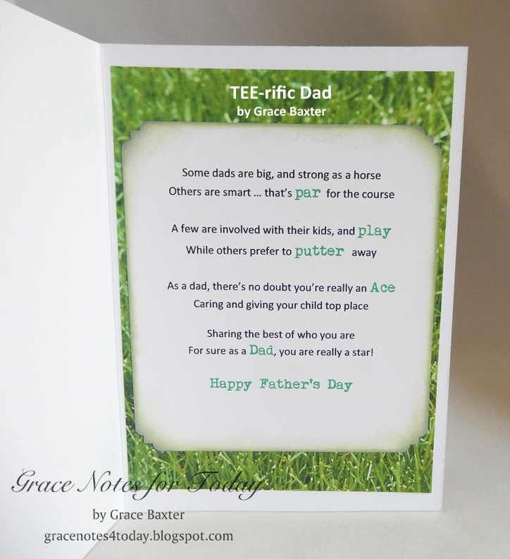 Grace Notes for Today: TEE-rific Dad! Card and Poem