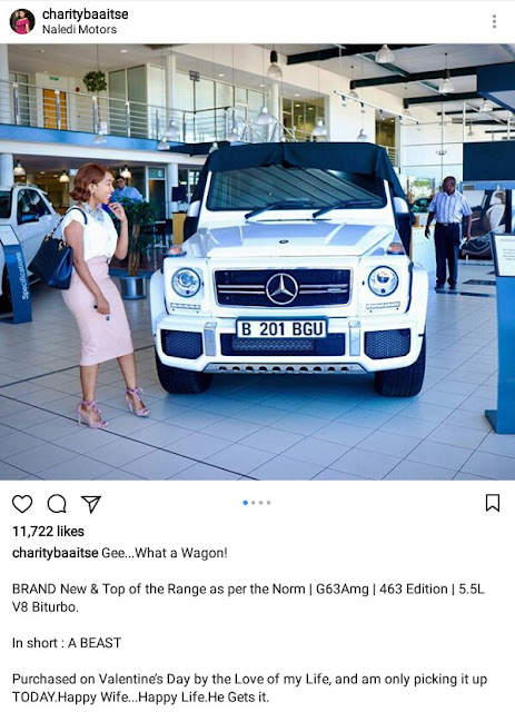 """""""Happy wife, happy life"""" - Batswana woman shows off brand new G-Wagon she got from her husband"""