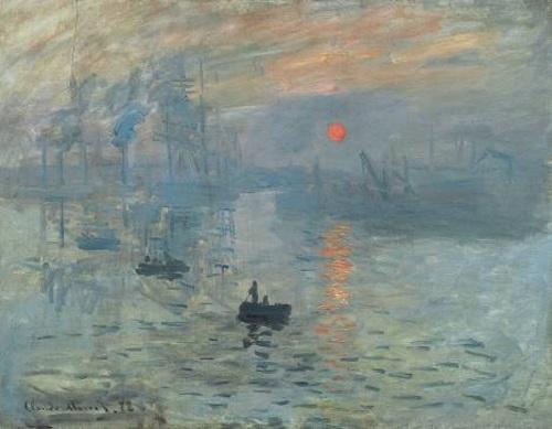 Impressao, nascer do sol, pintura de Claude Monet.
