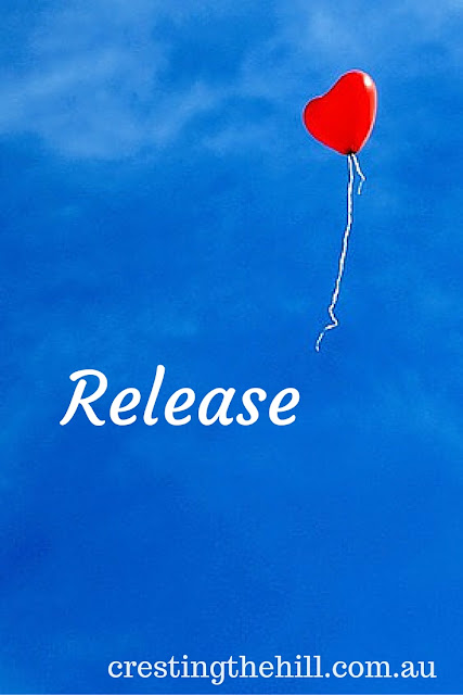 my word for 2015 is release - learning to let go of what is not mine.