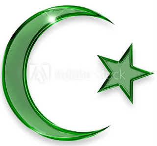 Islamic Symbol star and crescent