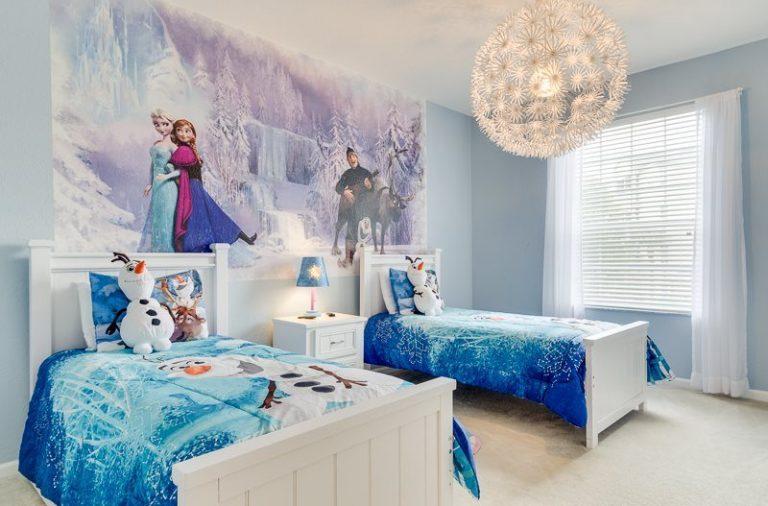 Kamar Tidur Anak Perempuan tema frozen