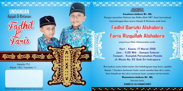 Undangan Khitanan Kerawang Gayo Pinto Aceh Cdr Design Corel