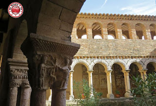 Alquezar en Huesca, España - Colegiata