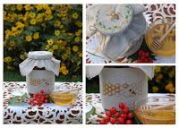 Вышивка пчела мед