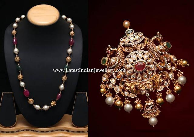 Beads Mala Heavy Pendant