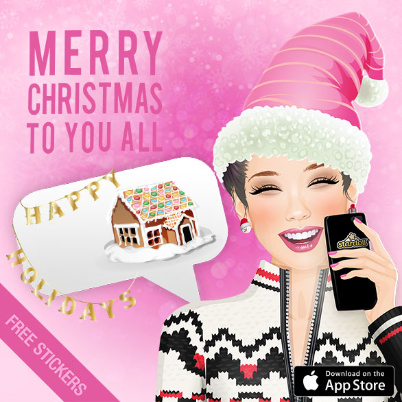 4c0b76d60e62 StarDoll give us amazing new Christmas Stickers Pack!