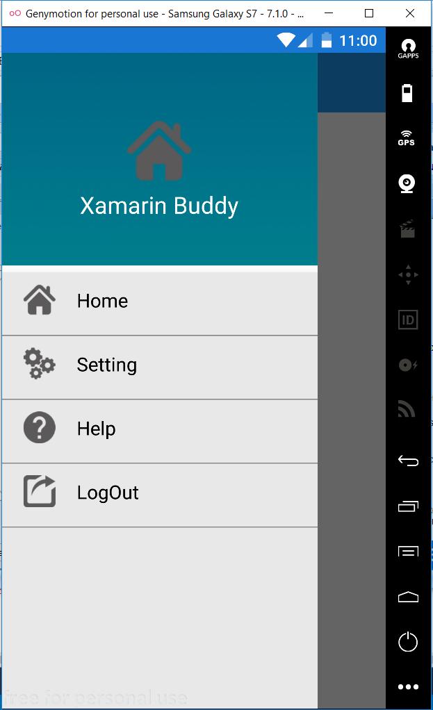 Xamarin Buddy }: Xamarin Forms (Dynamic)MasterDetailPage