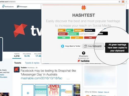 تحميل اضافة فحص هاش تاق تويتر Realtime Hashtag Testing