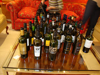 70f8633ce46 Just a little snapshot of some of the 39 wines tasted that morning.