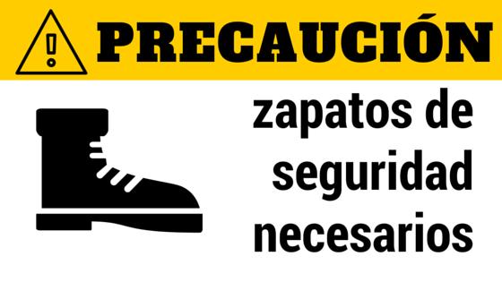 zapatos de seguridad necesarios