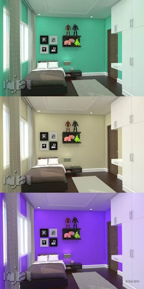 Aneka pilihan warna yang sesuai untuk kamar anak
