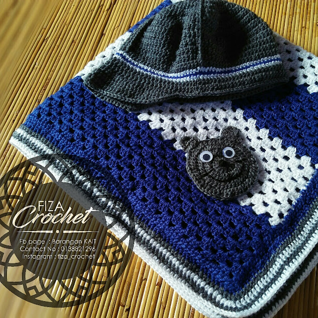 One set blanket dan snowcap kait baby boy