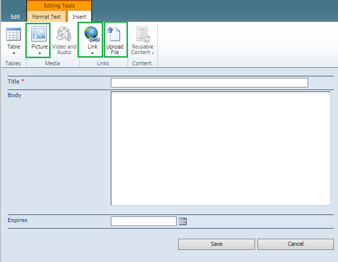 access denied on insert Link or Upload File in SharePoint 2010 Rich text editor