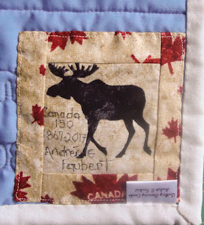 Moose label on the Canada 150 logo
