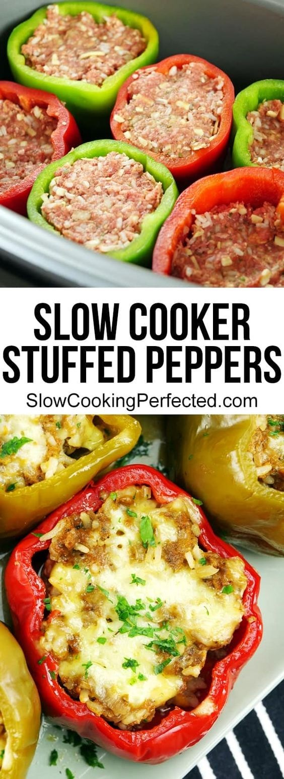 Flavor-Packed Slow Cooker Stuffed Peppers