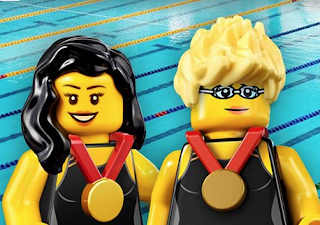 Paralympics gold-medal swimmers Yip Pin Xiu and Theresa Goh in Lego form