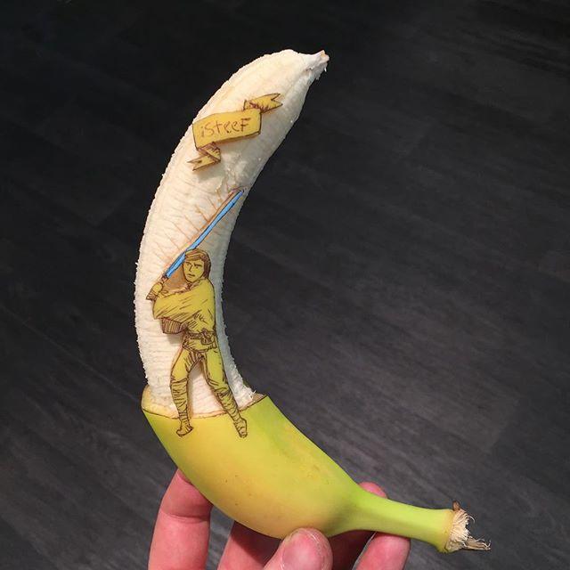 lukisan media pisang paling kreatif unik lucu dan menakjubkan-12