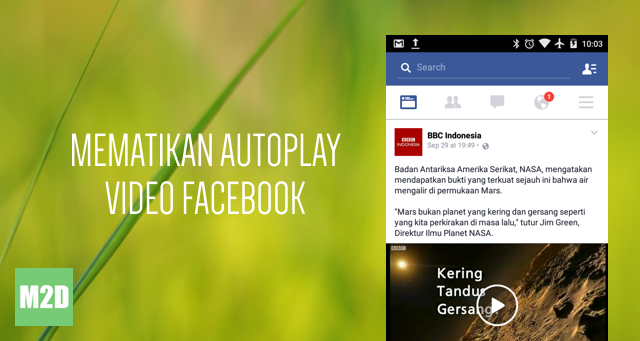 Mematikan Autoplay Video di Facebook