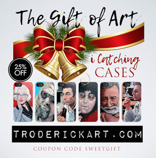 25% off iPhone and Samsung cases coupon code SWEETGIFT troderickart.com