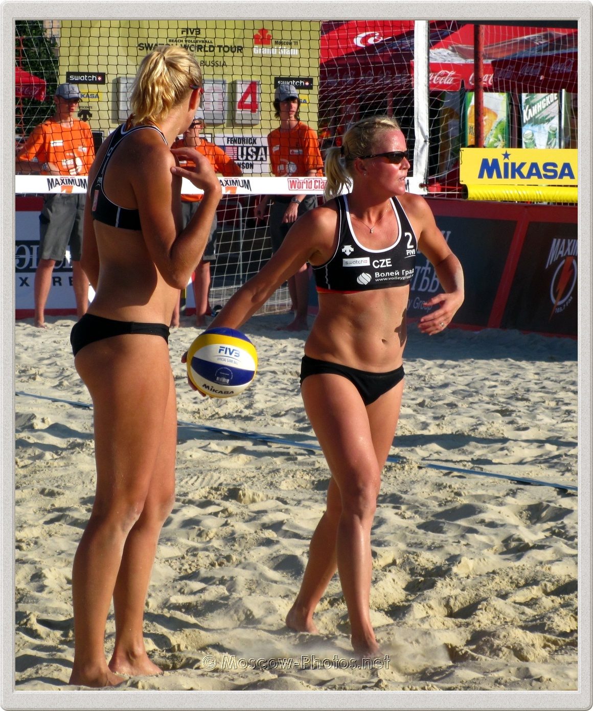 Beach Volleyball Players Hana Klapalova &  Lenka Hajeckova