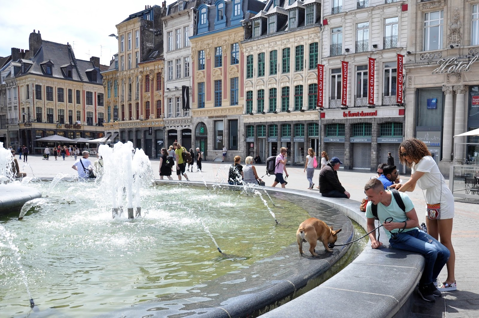 Fountain, Grand Place, Lille, France