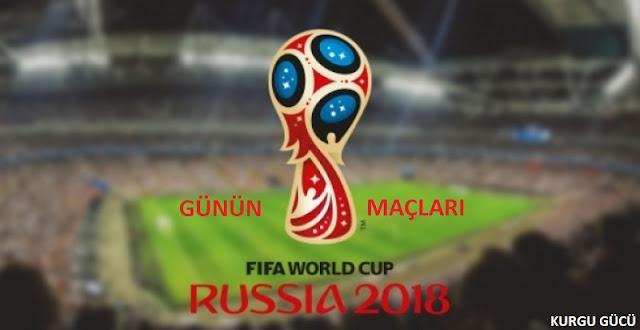 Günün Dünya Kupası Maçlar 27 Haziran 2018   Maç Detayları - Kurgu Gücü
