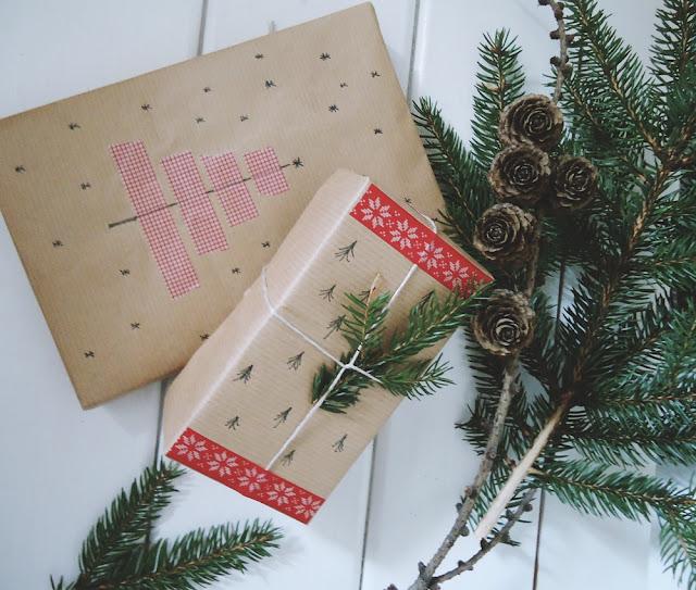 prezenty w papierze pakowym DIY