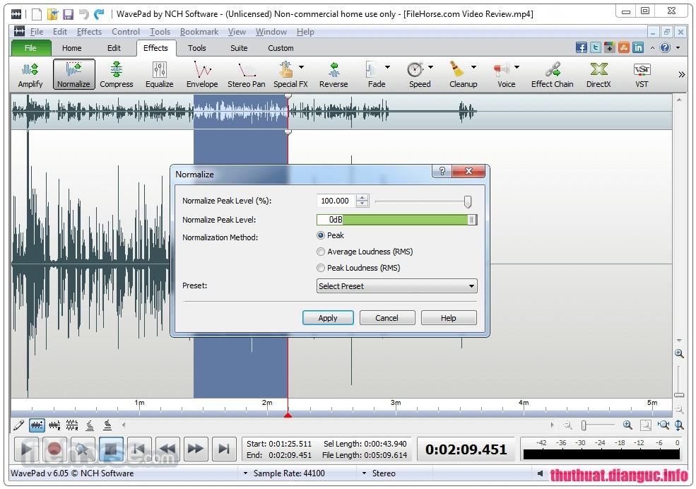 tie-smallDownload WavePad Sound Editor 8.42 Full Cr@ck – Phần mềm chỉnh sửa âm thanh chuyên nghiệp