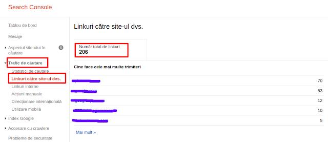 Linkuri catre site dvs - Google Search Console