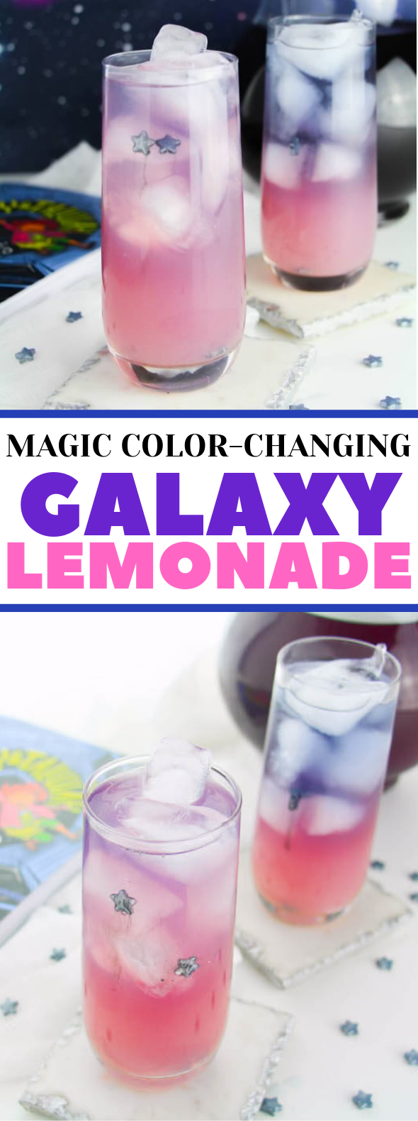 MAGIC COLOR-CHANGING GALAXY LEMONADE #drink #cocktail