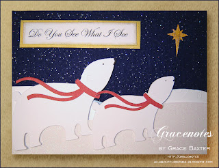 Do You See What I See, polar bear card. A Grace Baxter design.