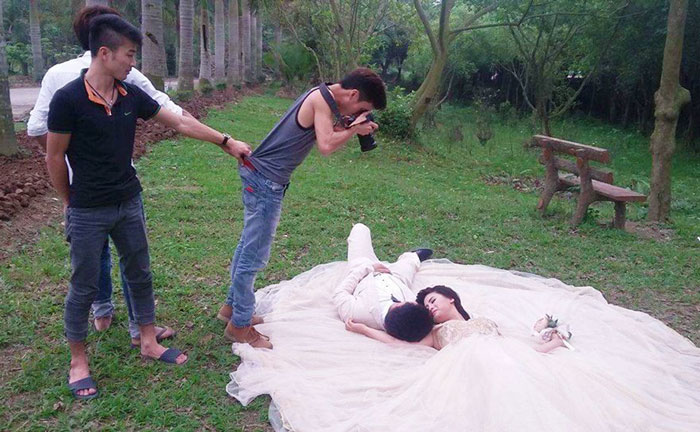 Making of Marriage Pictures Couples